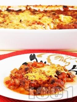 Патладжани на фурна с доматен сос - снимка на рецептата